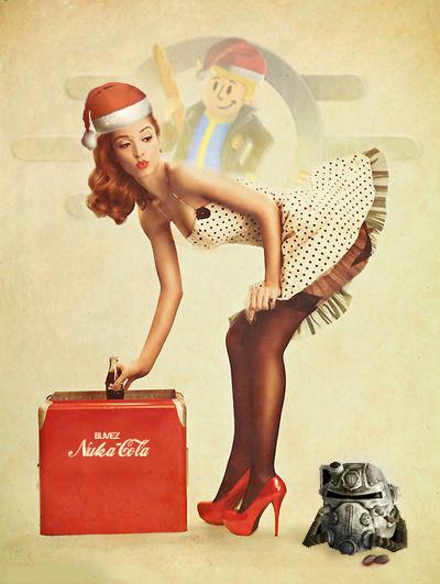 Pin-up Fogen de Noël